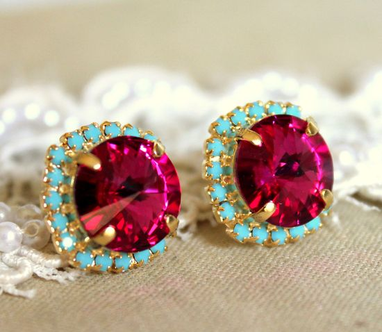 ruby and turquoise... these two colors together are so pretty!