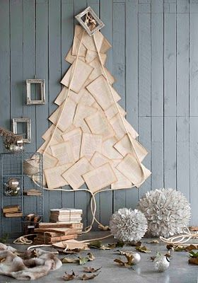 Book Page Christmas Tree
