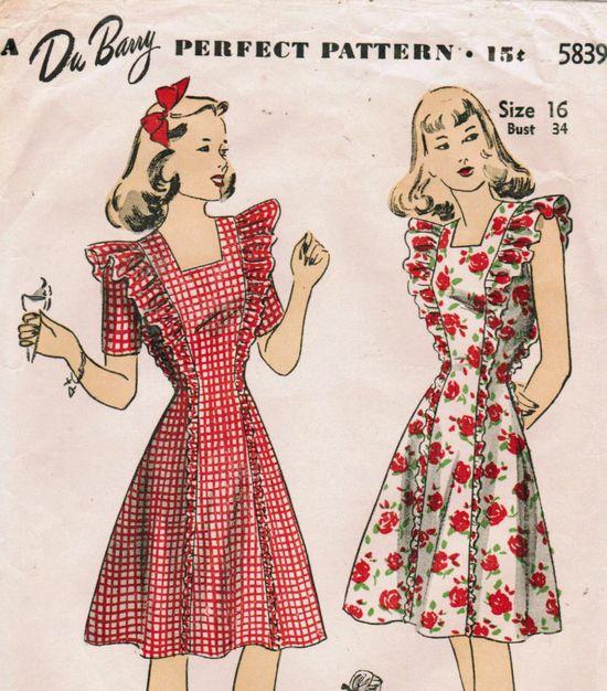 40s dress pattern - soooo cute!