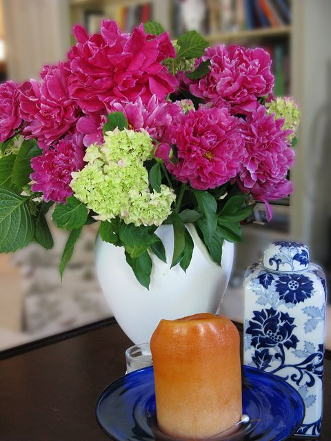 Peonies and Hydrangeas. My two favorites!!