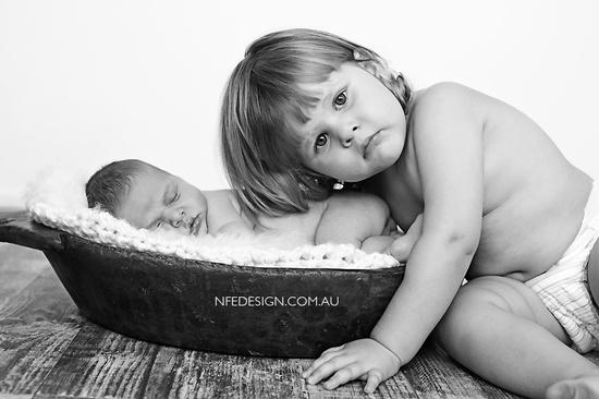 newborn + sibling photography