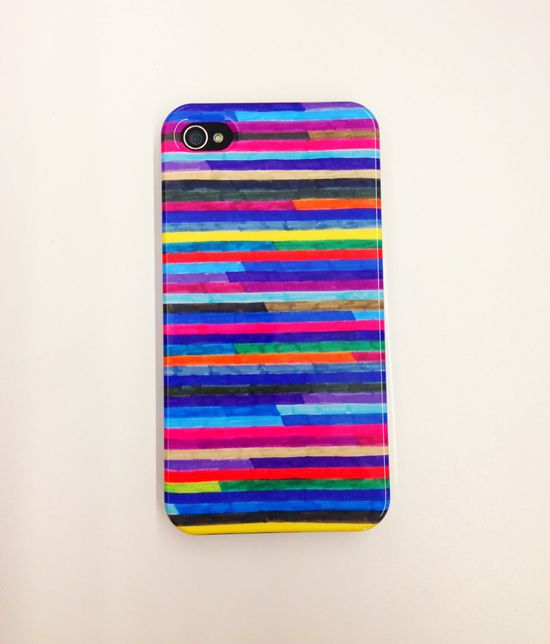 This colorful iPhone case is based on an original illustration - you won't find this one in stores! $33