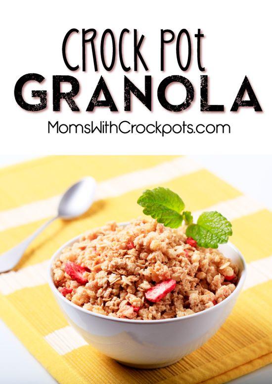 Perfect for back to school! #CrockPot Granola #Recipe #glutenfree