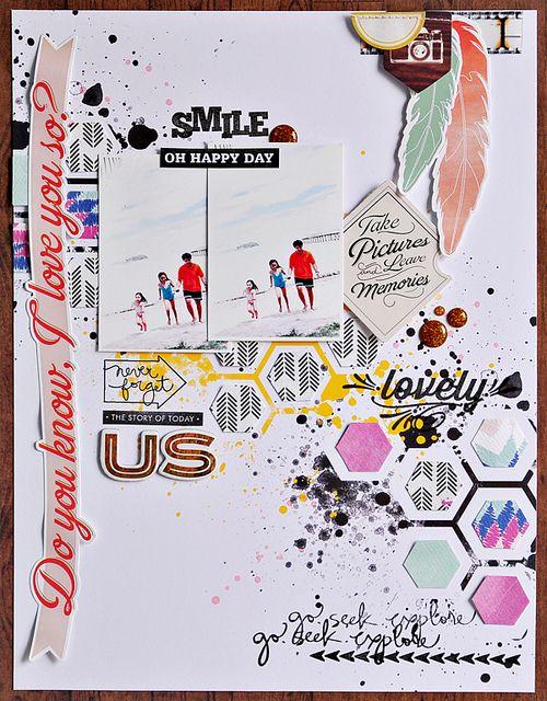 #papercraft #scrapbook #layout~Sasha, via Flickr
