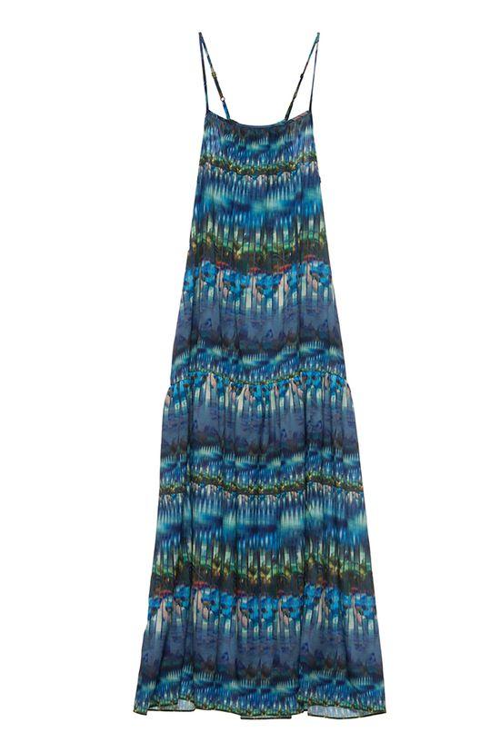 Whitney Eve Fall 2013 Spaghetti Dress, Bottomless Blue, Sunset, Dress, Maxi Dress, Long Dress, Blue