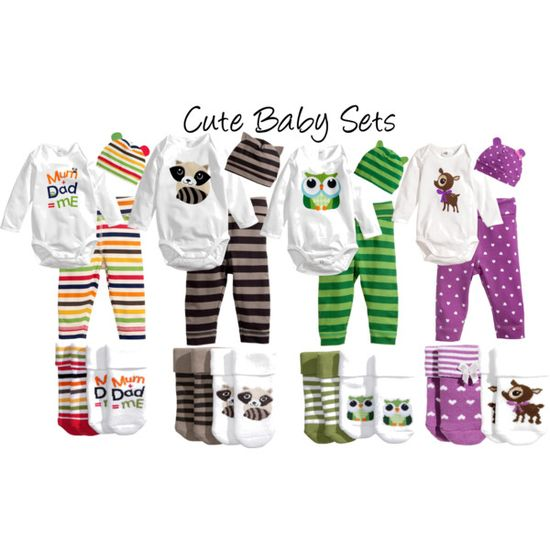 Cute Baby Sets, created by mozeemo on Polyvore