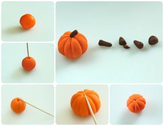 How to make a pumpkin cupcake topper.