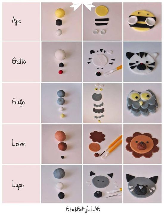 handmade animal using clay.  Different language but good visuals!!!