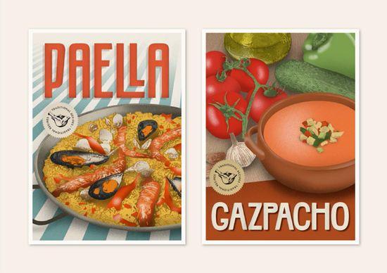 Recipes postcards: r