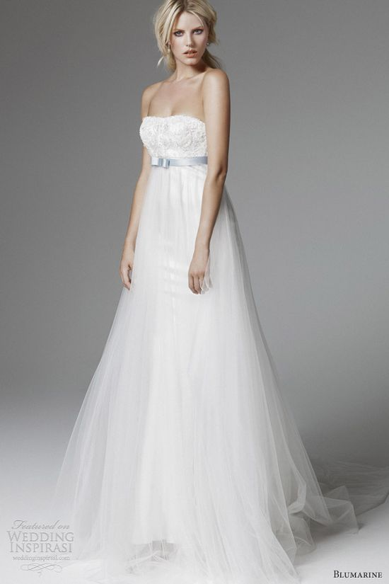 """ Blumarine 2013 bridal collection ""mariée, bride, mariage, wedding, robe mariée, wedding dress, white, blanc"