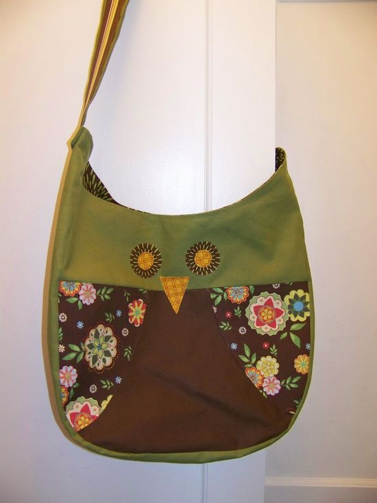 Owl Bag - Free Pattern & Sewing Tutorial - by A Wednesday Afternoon