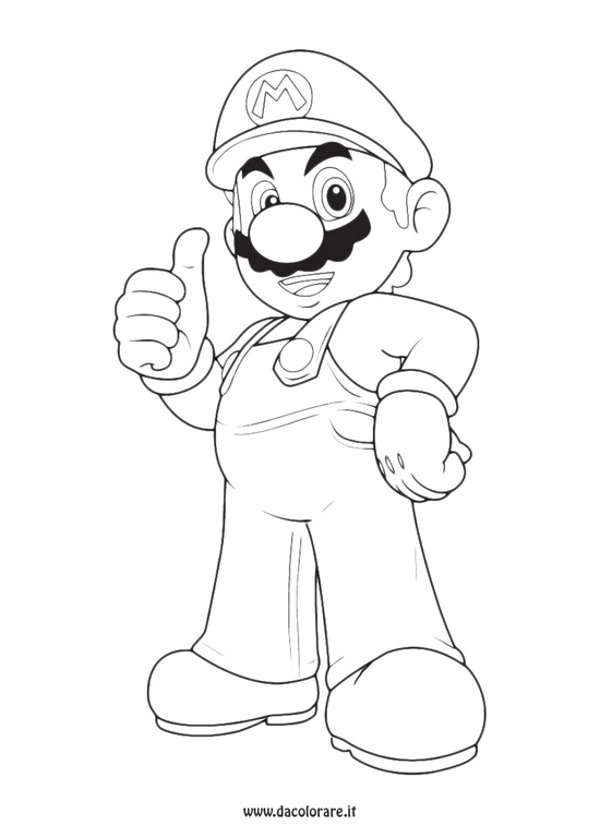 Super mario da colorare disegni da stampare gratis for Immagini flash da colorare