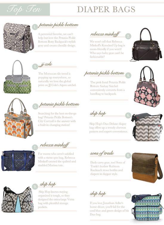 Top 10 Diaper Bags @Sarah Chintomby Nasafi Grayce #laylagrayce #favorite #diaperbags #topten #lgblog