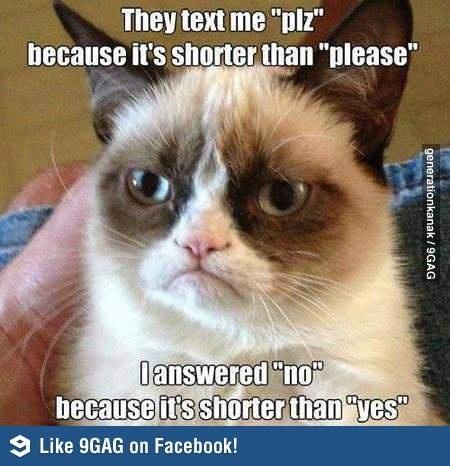 Grumpy Cat on texting