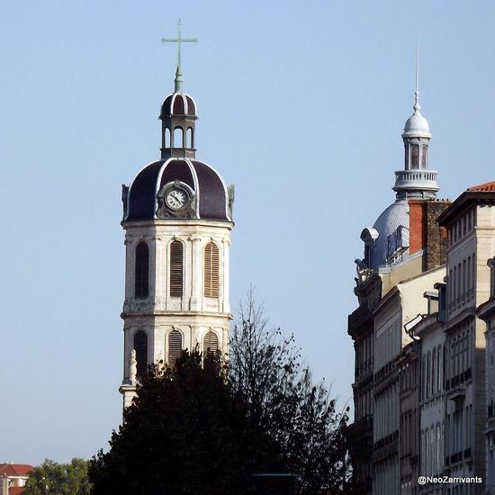 Lyon, presqu'ile clocher de la place Antonin Poncet