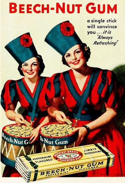 A single stick and you'll be convinced! #vintage #1930s #food #gum #ad