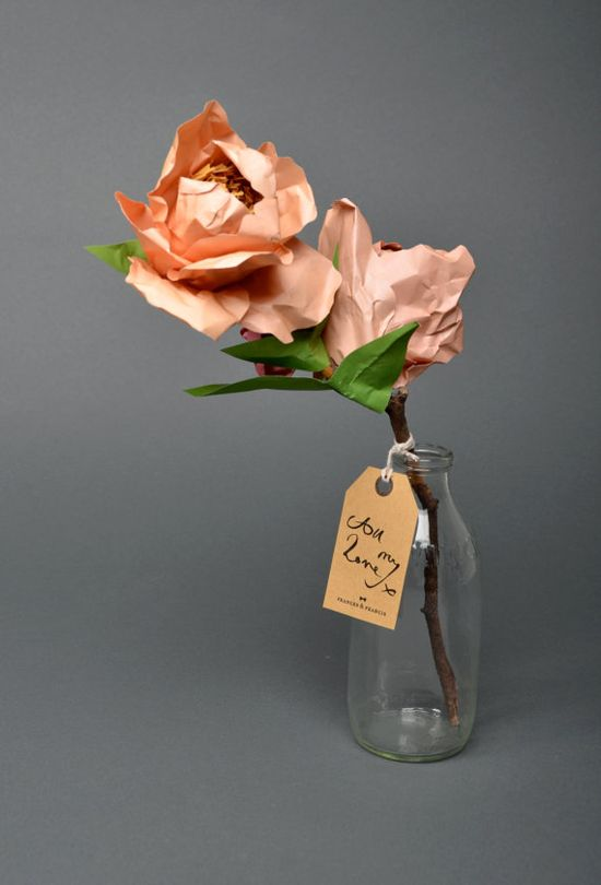 ? Paper flowers, from esty shop FrancesandFrancis