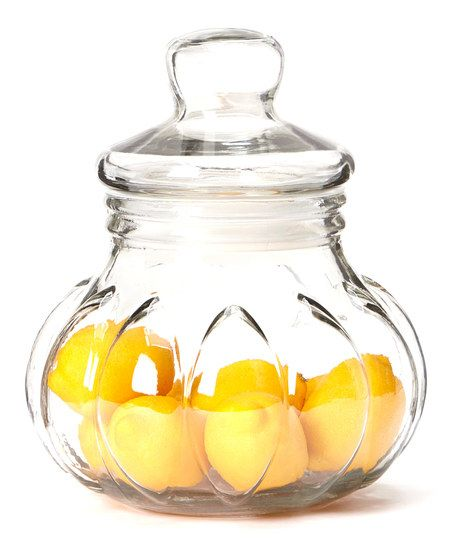 I really like the shape of this Glass Storage Jar - perfect to store fresh fruit, homemade goodies, etc...