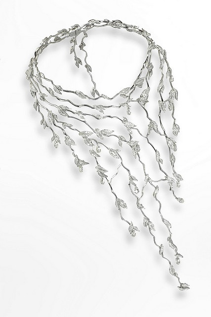 necklace by Van Cleef & Arpels  White gold and diamonds