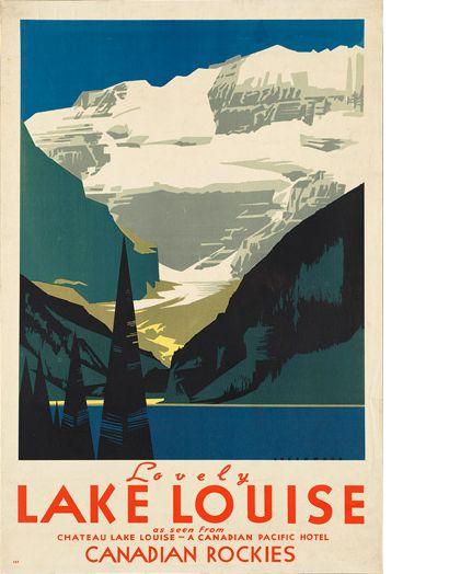 9.Vintage Canadian Pacific travel poster via canadiandesignresource.ca
