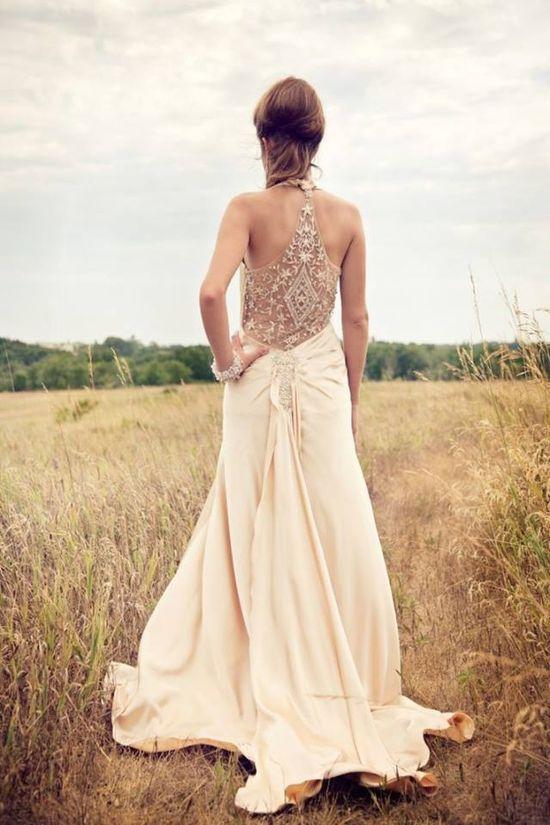 Boho chic hippie wedding gown love it