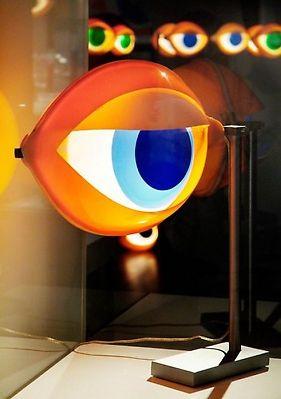 Nicola L. Blue Eye, table lamp, 1969   image Galerie Pierre-Alain Challier