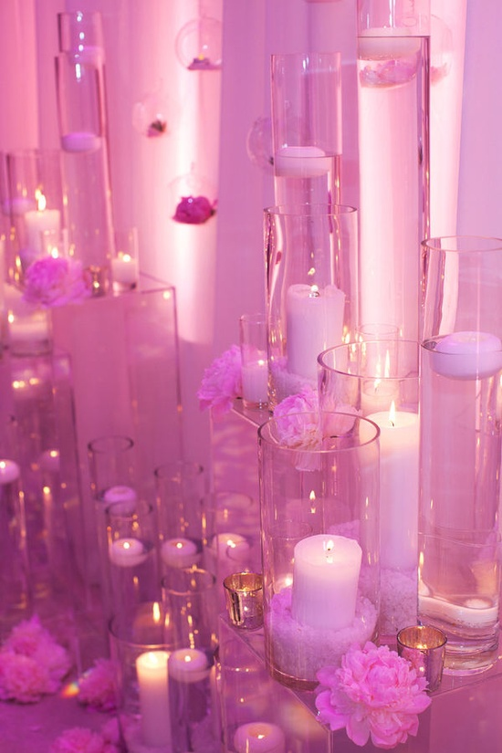 pink candlelight