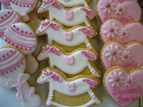 baby cookies for a girls shower