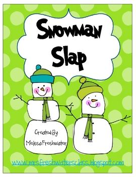Snowman Slap Sight Word Activity - Melissa Freshwater - TeachersPayTeache...
