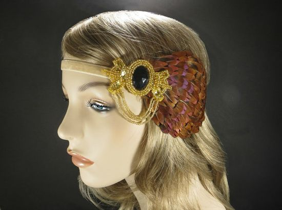 Autumn Hair Accessories Great Gatsby Flapper by FlowerCouture, $35.00