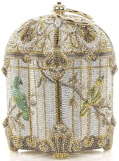 Джудит Лейбер Birdcage изобразительных сумка кристалла.