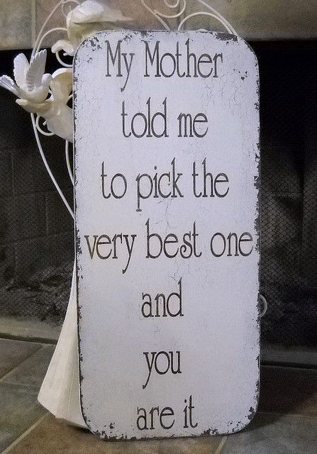 You are it. Perfect wedding sign! :)