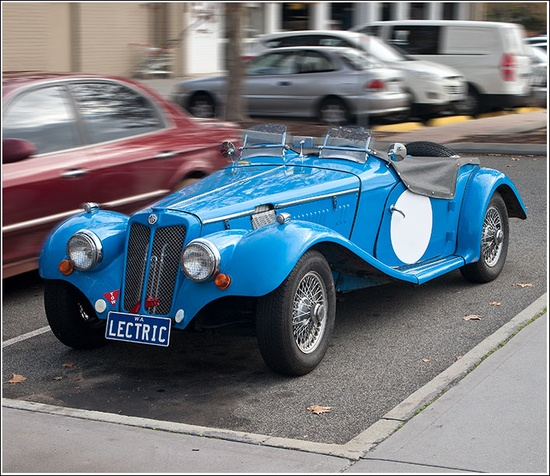 The owner who converted this classic sports car to an EV says this car has won races against its petrol powered rivals!