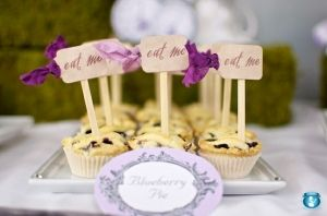 Alice in wonderland themed party idea