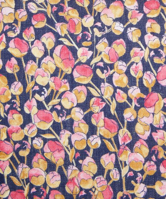 Blue and Pink Eliza Print Linen Union