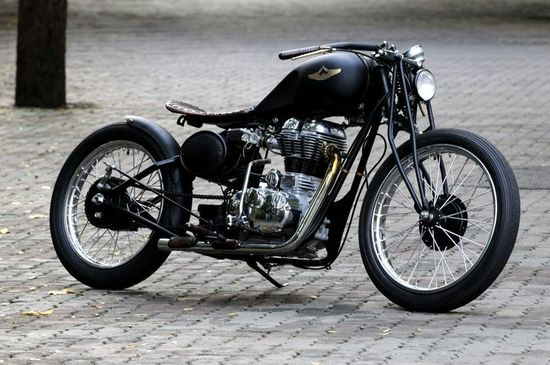 Rajputana Custom Motorcycles, India - Royal Enfield Bullet Classic 500 engine and was inspired by Board Track Racers from the 1920's
