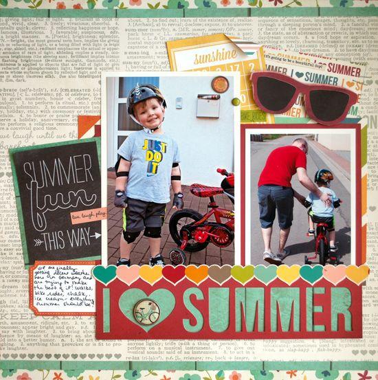 I Heart Summer - Scrapbook.com