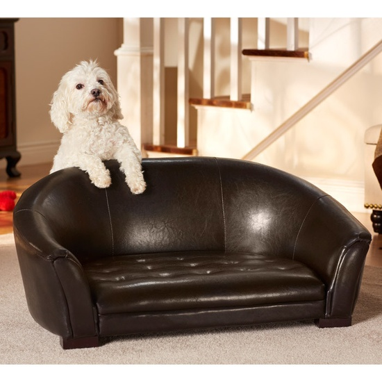 Large Faux Leather Pet Bed