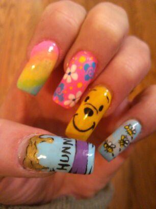 My Pooh nails! by Pam420 - Nail Art Gallery nailartgallery.na... by Nails Magazine www.nailsmag.com #nailart