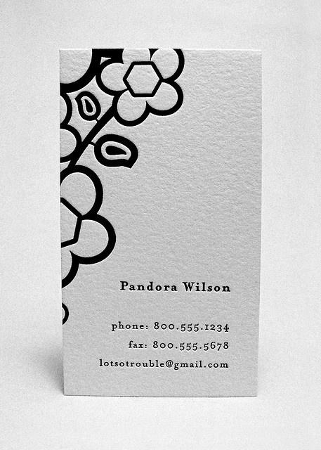 The Femme Fatale  Black ink letterpress printed on white cotton paper.