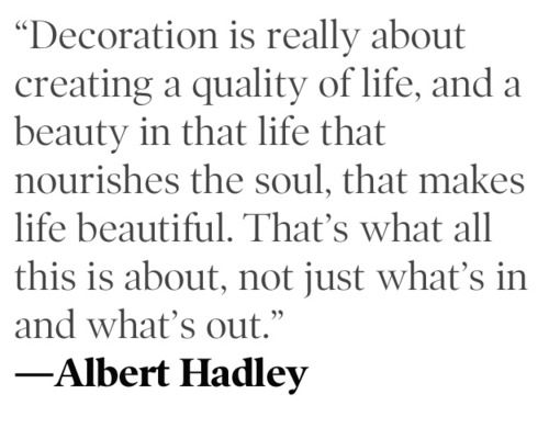 Albert Hadley  (1920-2012) - U.S Interior Designer extraordinaire