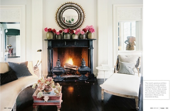 Love this fireplace mantel. cococozy.com