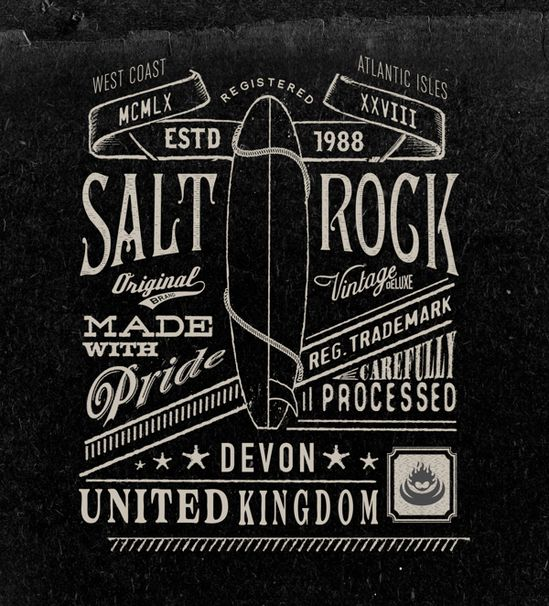 Vintage graphics No.2 by Neil Beech, via Behance