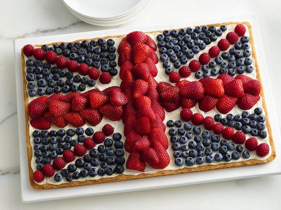 Union Jack Flag Fruit Pizza Recipe