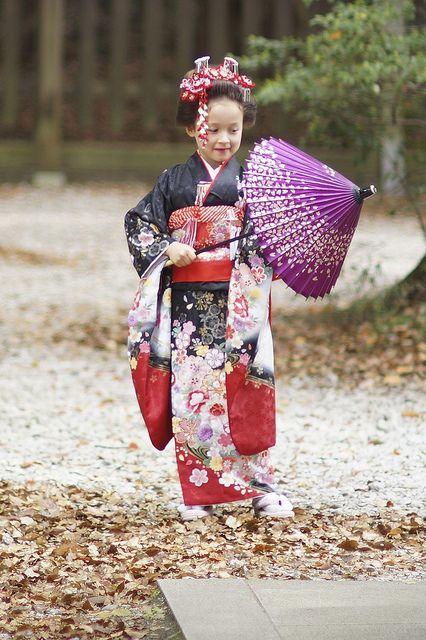 Japanese girl in Kimono.