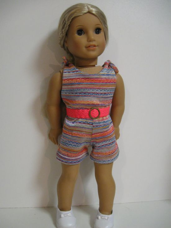 American Girl Doll Clothes Summer Romper by 123MULBERRYSTREET
