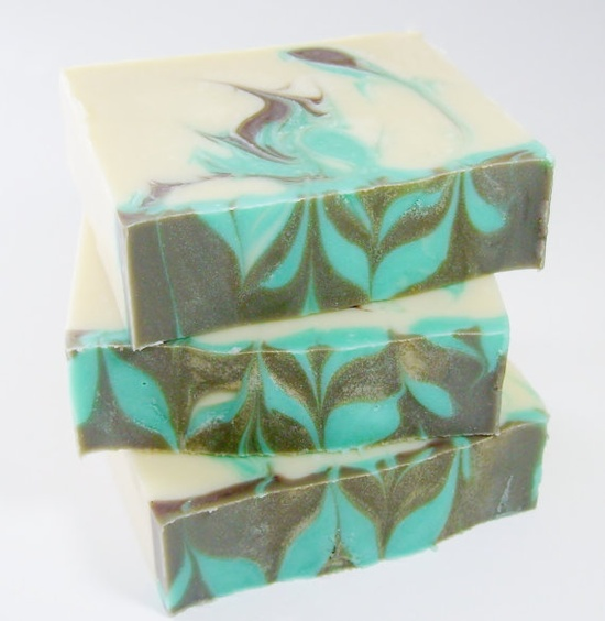 Handmade Soap. Not to be confused with mint fudge.