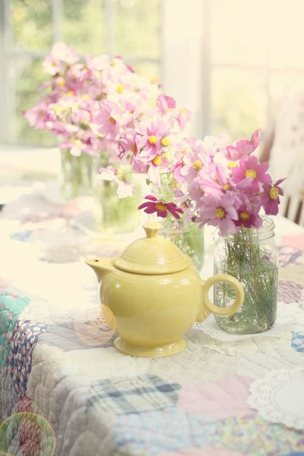 Yellow teapot