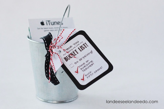 Landee See, Landee Do: Teacher Gift Idea: Bucket List