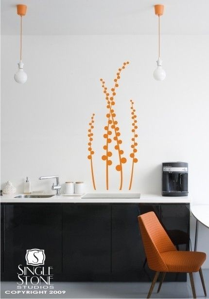 Floral Wall Decal Modern Meadow via Etsy